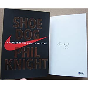 Phil Knight Nike Founder signed book Shoe Dog 1st Print Beckett BAS Authentic