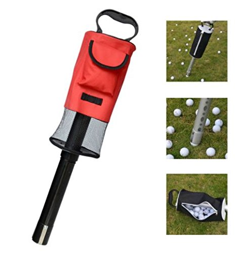 Portable Golf Ball Picker Pick-Ups Retrievers Pocket Storage Bag Scooping Device by Advanced
