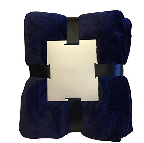 毛布柔らかいふわふわ二重厚いブランケットランチブリーク空調ブランケット多色オプション ZHML (Color : Deep-purple, Size : 130*160cm)