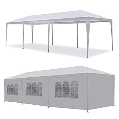 AVGDeals 10'x30' White Outdoor Gazebo Canopy Wedding Party Tent 8 Removable Walls -8 Guests Home House Party : Garden & Outdoor