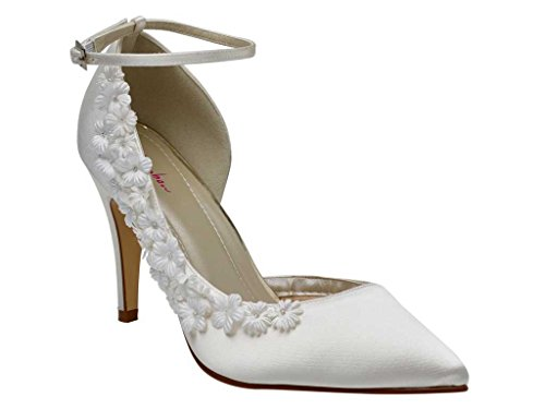 Rainbow Club Fern - Ivory Blossom High Heel Bridal Court Shoes