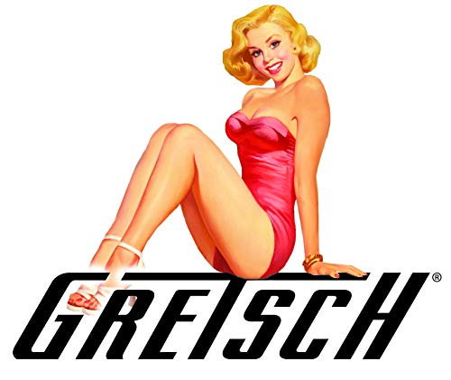Gretsch Sticker Sexy Pinup Girl A003 Great for Guitar AMP Toolbox Sexy Pinup Girl Decals Laptop Mirror