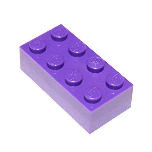 LEGO Parts and Pieces: Dark Purple (Medium Lilac) 2x4 Brick x50