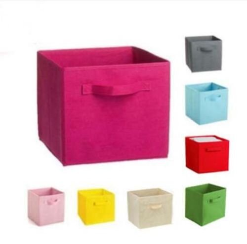 Cube Organizer Clothes Hot Foldable 1 Pcs Fabric Home Folding Books Box Storage (Providence Border Rugs)