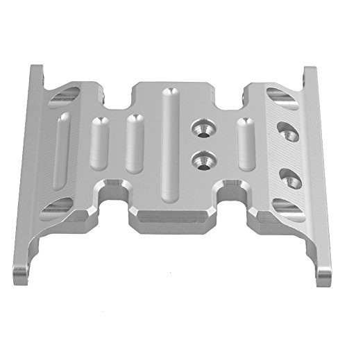 Mxfans Silver Upgrade Accessory AX80026 Center Skid Plate AXIAL SCX10 Electric 4WD RC1:10 Model ()