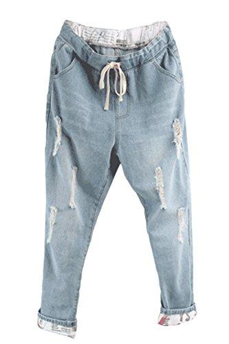 Claires Jeans Dchirs des lastique Jeans Taille yulinge Et Femmes Les Bleues qUfqng6v