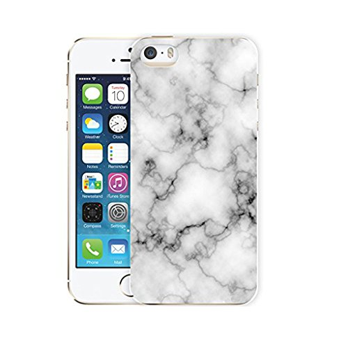 "Coque iPhone 6 Plus / 6S Plus, IJIA Ultra-mince Motif Marbre Naturel Ivoire Blanc TPU Doux Silicone Bumper Case Cover Coque Housse Etui pour Apple iPhone 6 Plus / 6S Plus 5.5"" + 24K Or Autocollant"