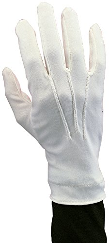 Rubie's Costume Co Men's Novelty Nylon Gloves, White, One Size