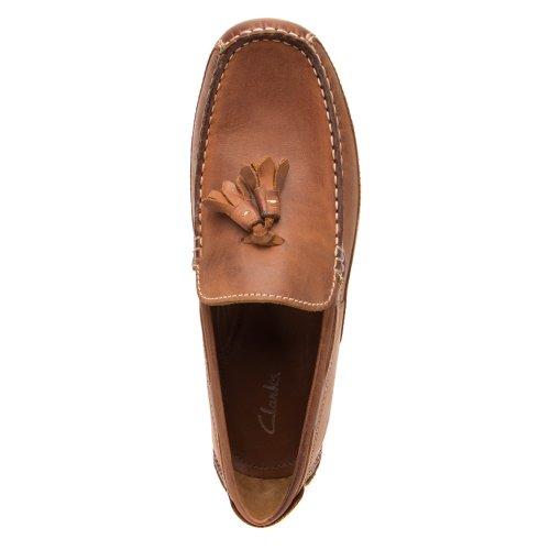 Clarks Mens Hamilton Cove Nutmeg Leather 13 M Us