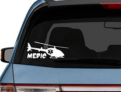 StickerLoaf Brand CUSTOM FLIGHT MEDIC car truck Laptop Decal Sticker decals sticker EMT EMS CHOPPER MEDIC PARAMEDIC Star of Life Maltese Cross (Chopper Maltese)