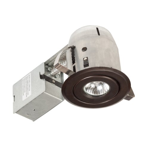 Globe Electric 90013 4 inch Recessed Lighting Kit, Swivel, Dark Bronze Finish, Spot Light by Globe Electric