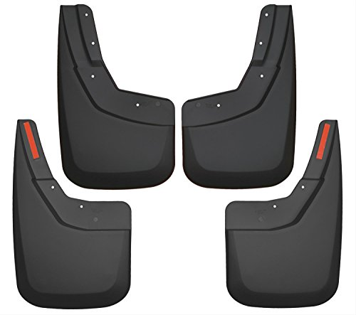 Mud Chevy Flaps Silverado (Husky Liners Front & Rear Mud Guards Fits 14-18 Silverado 1500, 15-18 2500/3500)