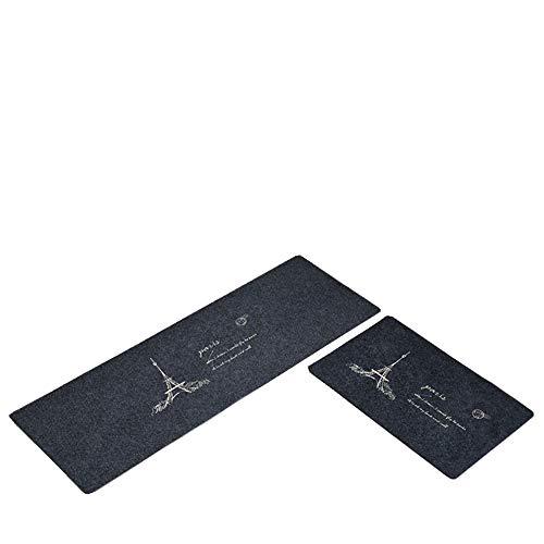- The Duck 2Piece Non-Slip Kitchen Mat Rubber Backing Doormat Runner Rug Set, Anti Fatigue Floor Mat Set,Relieves Foot, Knee, and Back Pain, (Gray 15