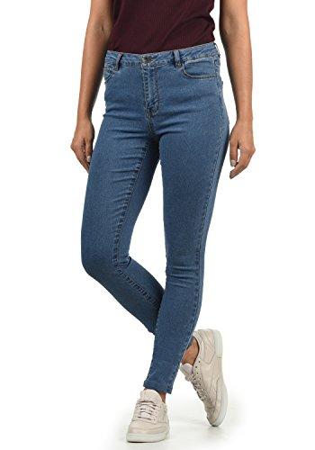 Jeans Rise Medium Denim Mujer Moda Color tamaño Tejano L32 Vero XL Fit para Jenna Blue Mid Elastico Vaquero Skinny 0nExxvT