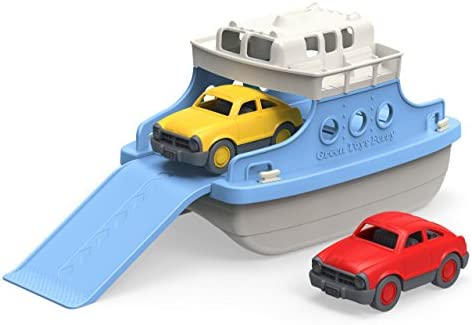 picture of Green Toys Ferry Boat - Mini Cars Bathtub Toy, Blue