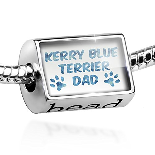 Dog Kerry Terrier Blue Charm (Charm Dog & Cat Dad Kerry Blue Terrier Bead by NEONBLOND)