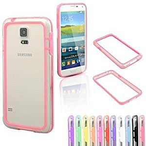 WQQ Colorful Middle Transparent TPU+PC Bumper for Samsung S5 I9600(Assorted Color) , White