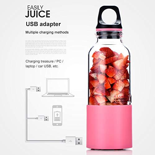 500 ML Portátil USB Recargable Licuadora Eléctrica Juicer Cup ...
