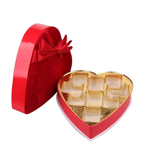 Rowling Wholesale Heart Shaped Jewel Wedding Favour Candy Sweets Chocolate Gift Boxes Candy Making Wrappers (14pcs/ctn)