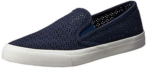 SPERRY Women's Seaside Nautical Perf Sneaker, Navy, 5.5 Medium -