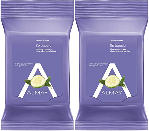 - Almay Oil Free Gentle Makeup Remover Towelettes, 25 Count Package (Pack of 2)