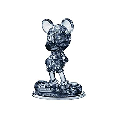 BePuzzled Original 3D Crystal Jigsaw Puzzle - Disney Mickey Mouse 2ND Edition Brain Teaser, Fun Decoration for Kids Age 12 & Up, Black, 47Piece (Level 1) 31029: Toys & Games