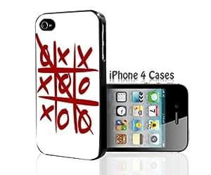 Red Tic Tac Toe iPhone 4/4s case