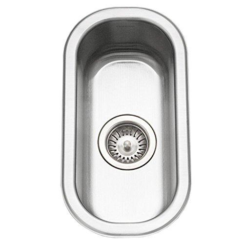 (Houzer CS-1105-1 Club Series Undermount Stainless Steel Compact Bar/Prep Sink (Renewed))