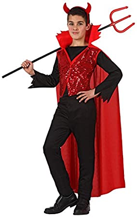 Atosa-10579 Disfraz Demonio para Niño Infantil, color rojo, 10 A ...