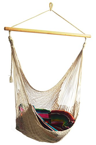 Hammocks Rada – Handmade Yucatan Hammock Chair – Natural Beige 100% Soft, Thick Cotton – True Comfort, True Quality, World's Best Handmade Hammock Cha…