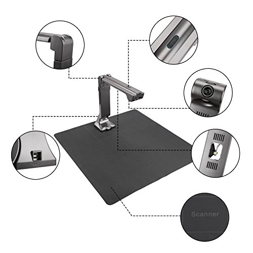 eloam Portable USB Document Camera Scanner S600 with,A3 Capture Size,5 MegaPixel CMOS, High-Definition Digital Visual Presenter by eloam (Image #1)