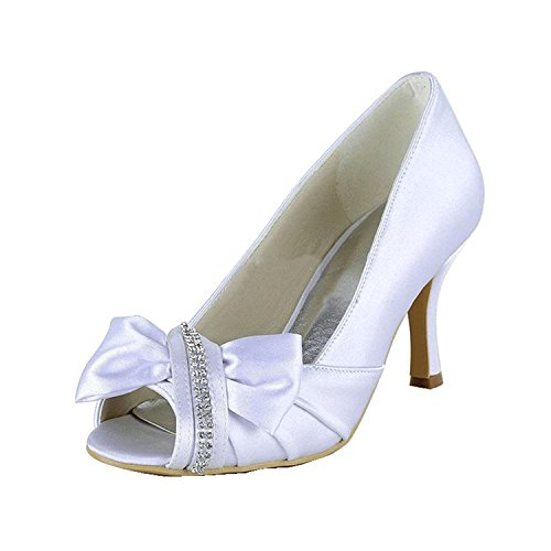 Minitoo Minitoo White Sandales Heel pour 5cm 9 Sandales femme r1nRUqWr