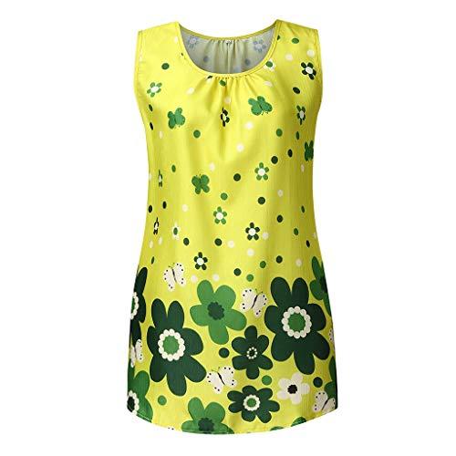 Women Boho Vest Summer Cotton Linen Short Sleeve Shirt Floral Beach Maxi Vest Loose Baggy Tops Pullover Shirts