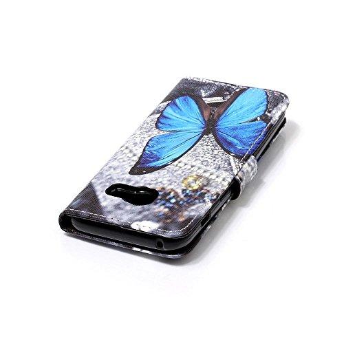 Fuanda Samsung galaxy A3 2017,Protector Flip Cover Smart Magnética con Stand Plegable y Soporte de PU Cuero para Samsung galaxy A3 (A320) 2017 A07