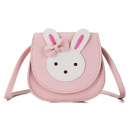 Aimeio Little Girls' Crossbody Purse Cute Bunny Shoulder Bag Satchel for Kids Toddlers