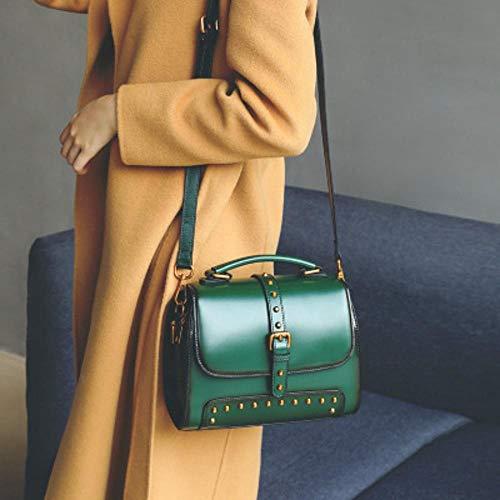 Shoulder Layer Hongge Fashion Leather Cowhide D Lady Bag Single Pouch Two Handbag rw7znYqwZ