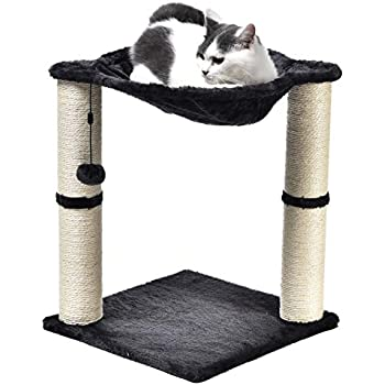 1a9ef5fe8c9f Amazon.com : AmazonBasics Large Cat Condo Tree Tower with Scratching ...