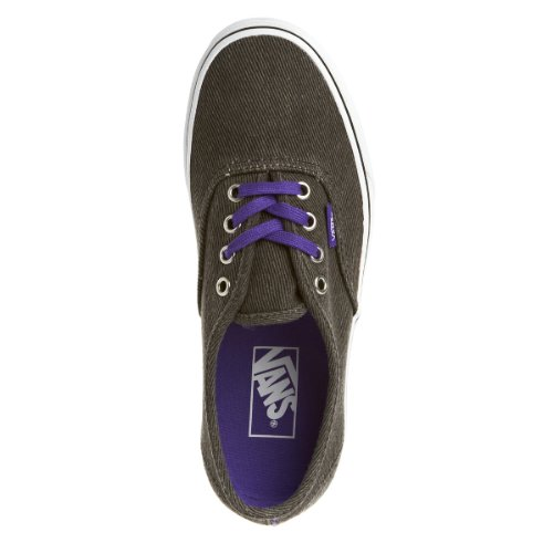 Vans Classic Authentics Washed Twill Black Purple Youths Trainers