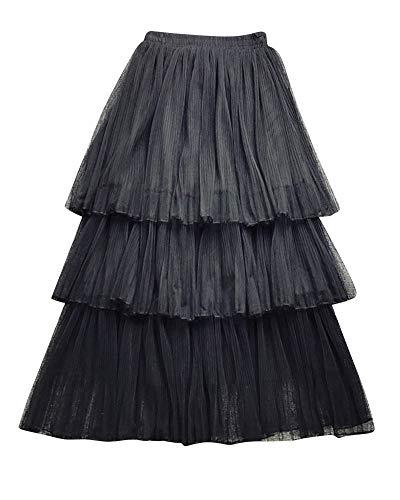 Longue lastique Haute Jupe Taille Kasen Noir Maxi Femme Jupes qZnp1