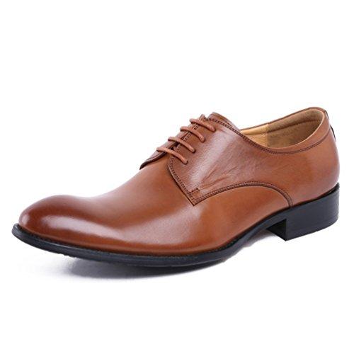 SHANGWU Azadas De Cuero De Cuero Ocasionales De Los Hombres Zapatos De Los Hombres De Punto Británicos Zapatos De Vestir De...