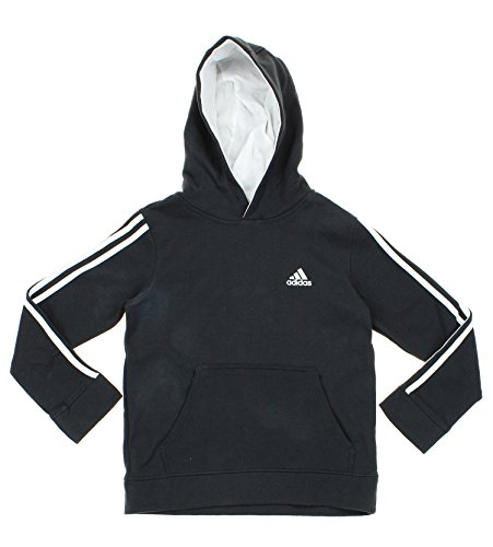 Adidas Big Boys Youth Game Time Pullover Fleece Hoodie, Dk Grey White