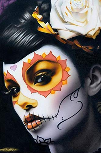 Victoria by Daniel Esparza Sugar Skull Girl Tattoo Art Print Poster for Framing