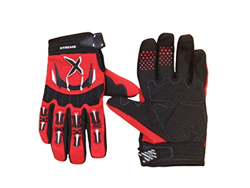 - Sports and Outdoors Gloves - Unisex Off Road Gloves Universal Durability Cycling Bike Bicycle MTB DH Downhill Dirt Bike Atv & Motorcycle Glove Comfortable Fit Color: Red&Black, Size: XLarge