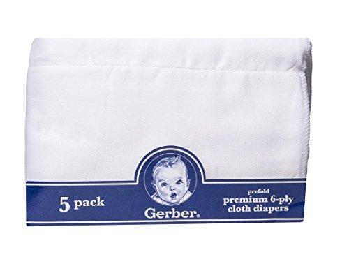 Gerber Prefold Premium Diapers 5 Pack
