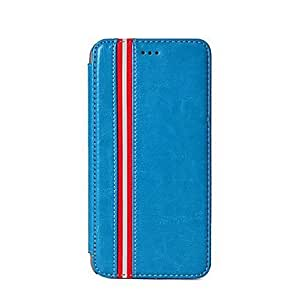 ZXC Linear Design PU Leather Full Body Case for iPhone 6 Plus (Assorted Colors) , White