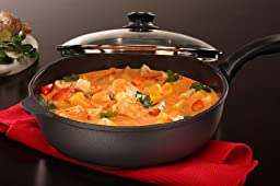 Swiss Diamond Nonstick Saute Pan with Lid - 4.3 qt (11\