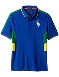 Boys Big Pony Paneled Polo Shirt