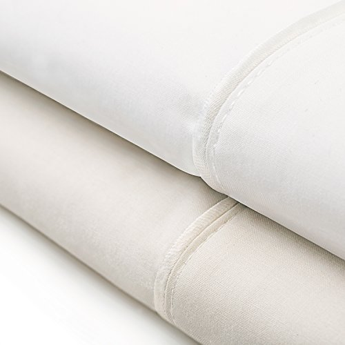 Italy Bed Linens (Deluxe Italian Sheets - 100% Egyptian Cotton - Made in Italy - Full - Ivory)