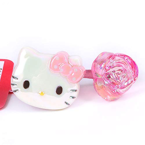 Kitty Hello Hair Elastic Ponytail Holder Hair Ornament m Rose Pink
