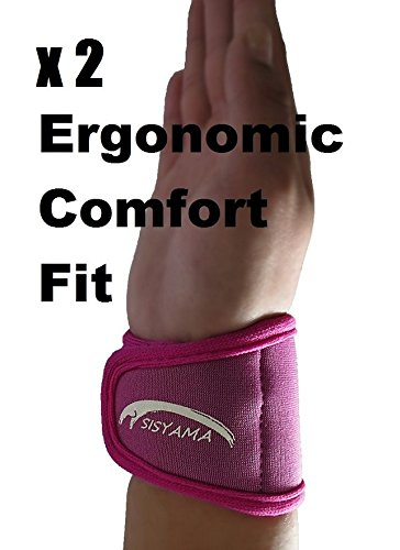 (Sisyama 2X Adjustable Neoprene Wrist Support Wristbands (Youth Pink))